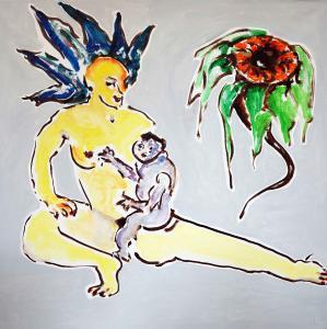 Aperçu de l'oeuvre Femme, enfant, fleur